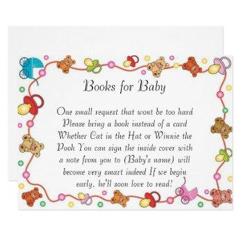 Baby Elements Baby Shower Books For Baby Card