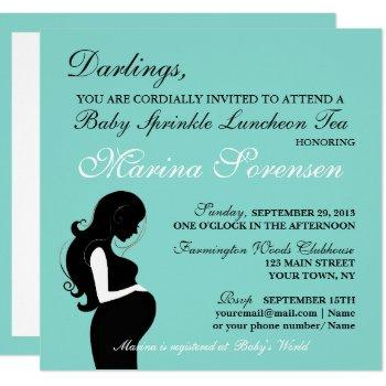Baby & Family Sprinkle Shower Luncheon Tea Party Invitation