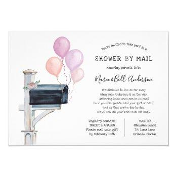Baby Girl Long Distance Shower By Mail Invitation