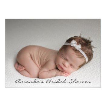 Baby Girl Shower Feet Glitter White Pink Photo Invitation
