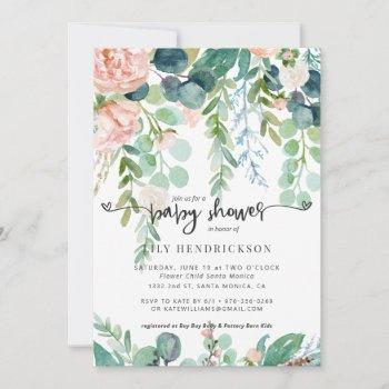 Baby In Bloom | Floral Baby Shower Invitation