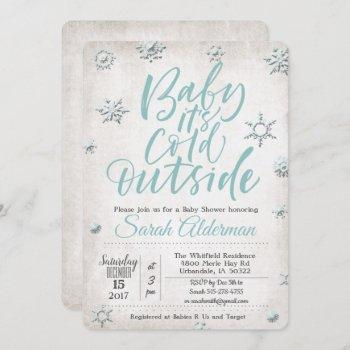 Baby Its Cold Outside Baby Shower Invitation
