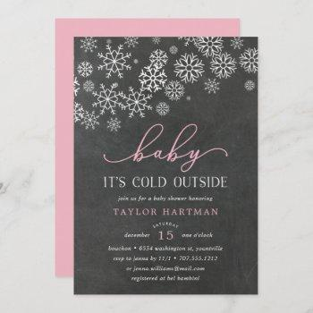 Baby It's Cold Outside Chalkboard Shower Invite