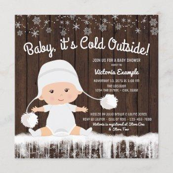 Baby Its Cold Outside Snow Baby Shower Invitation