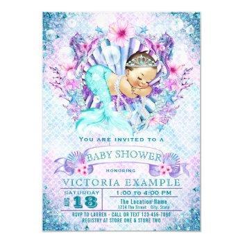 Baby Mermaid Baby Shower Invitations