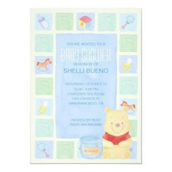 Baby Pooh And Hunny Baby Shower Invitation