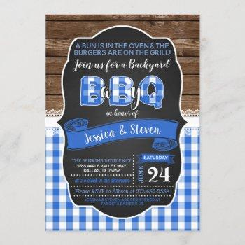 Baby Q Baby Shower Invitation For Boy - Blue