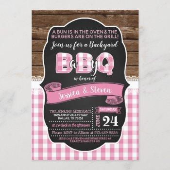 Baby Q Baby Shower Invitation For Girl- Pink