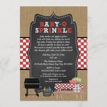 Baby Q Sprinkle, Bbq Baby Sprinkle Shower, Babyq Invitation
