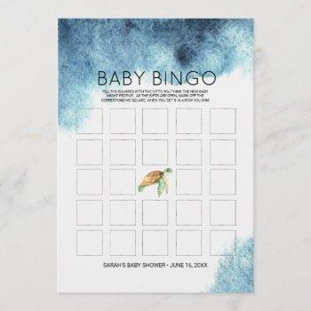 Baby Shower Bingo  | Sea Turtle