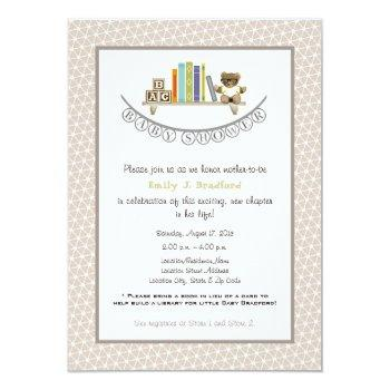 Baby Shower Book Themed Unisex Invitation