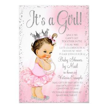 Baby Shower By Mail Pink Princess Tutu Baby Shower Invitation