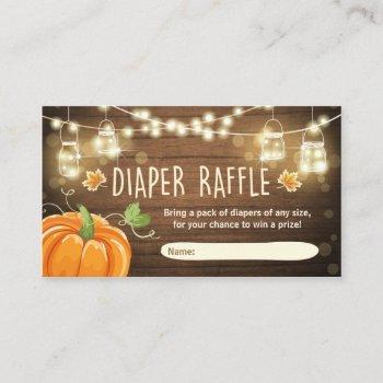 Baby Shower Diaper Raffle  Rustic Pumpkin