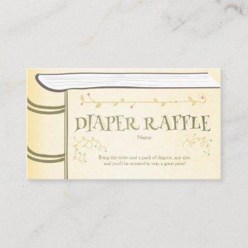 Baby Shower Diaper Raffle Card Storybook Fairy