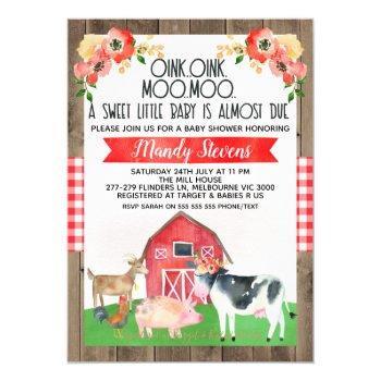 Baby Shower Farm Invitation