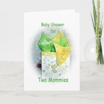 Baby Shower For Two Mommies To Be Invitation