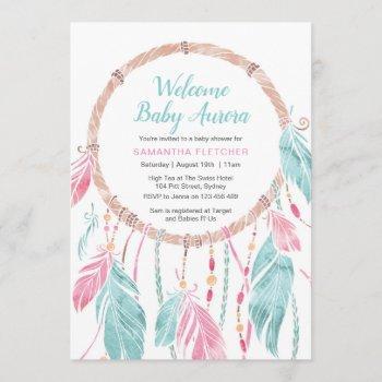 Baby Shower Invitation | Boy Or Girl Dream Catcher