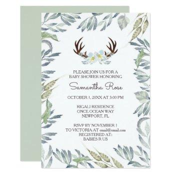 Baby Shower Invitation Boy, Rustic