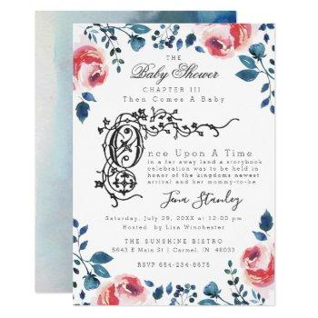 Baby Shower Invitation | Modern Floral Storybook