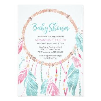 Baby Shower Invitation | Watercolor Dream Catcher