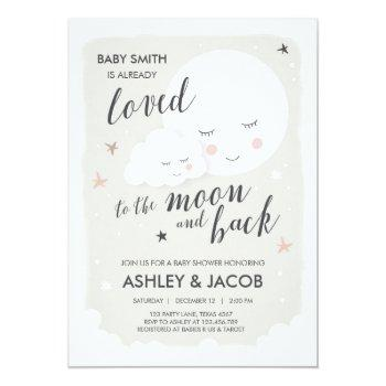Baby Shower Loved To The Moon And Back Invitation