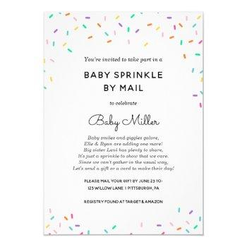 Baby Sprinkle By Mail Invitation