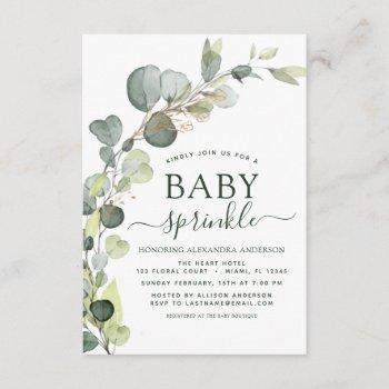 Baby Sprinkle Shower Greenery Eucalyptus Succulent