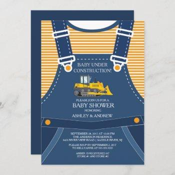 Baby Under Construction Baby Shower Invitation