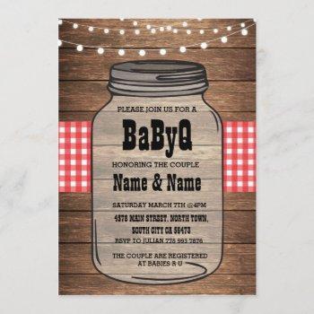 Babyq Gender Reveal Baby Shower Red Check Invite