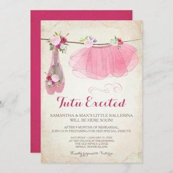Ballerina Baby Shower  Girl, Pink