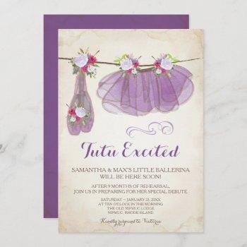 Ballerina Baby Shower  Girl, Purple