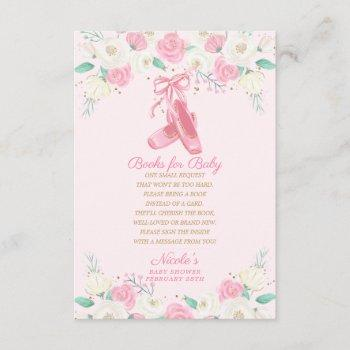 Ballerina Bring A Book Request Books For Baby Enclosure Card