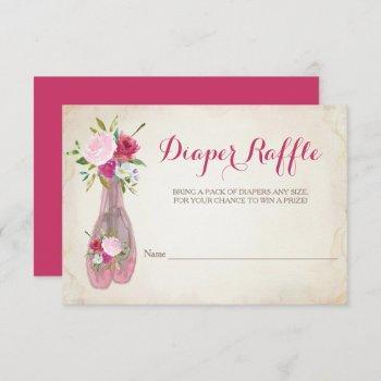 Ballerina Girl Baby Shower Diaper Raffle Invitation
