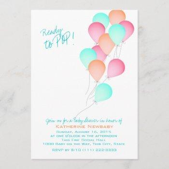 Balloon Celebration Baby Shower Invitation