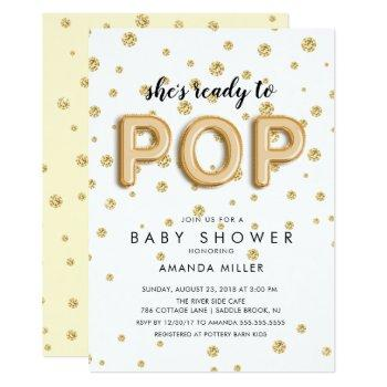 Balloons Ready To Pop Neutral Shower Invitations