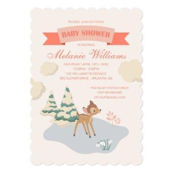 Bambi | Girl Baby Shower Invitation