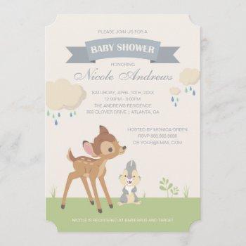 Bambi | Neutral Baby Shower Invitation