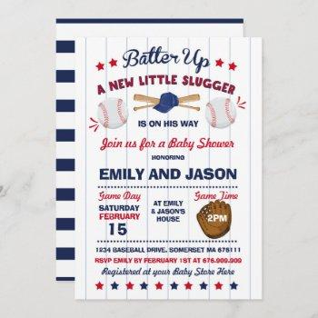Baseball Baby Shower Invitation Baseball Shower