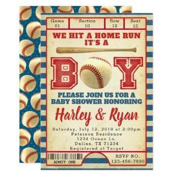 Baseball Baby Shower Invitation Invite