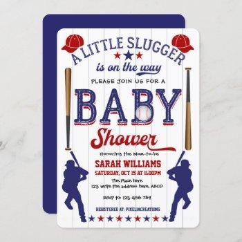 Baseball Theme Baby Shower, Baby Boy Shower Invitation