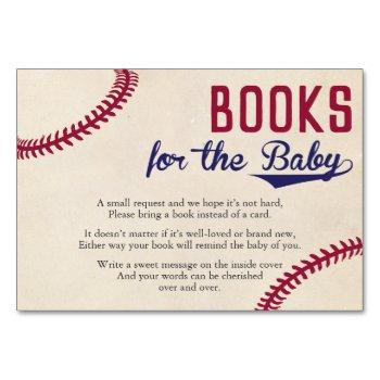 Baseball Themed Bring A Book Card Inserts