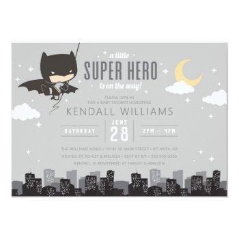 Batman Super Hero Baby Shower Invitation