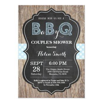 Bbq Baby Shower Invitation Baby Q Backyard Boy