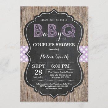 Bbq Baby Shower Invitation Baby Q Backyard Purple