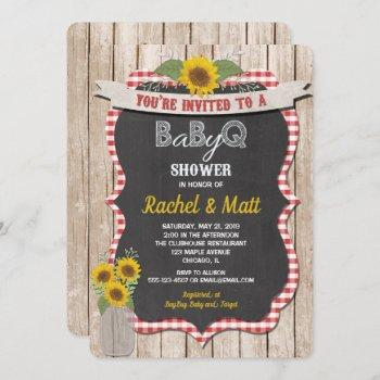 Bbq Baby Shower Invitation Baby-q Picnic Invite