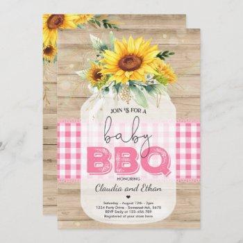 Bbq Baby Shower Sunflower Baby Q Couples Shower Invitation