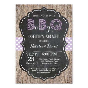 Bbq Couples Shower Invitation Baby Q Backyard Girl