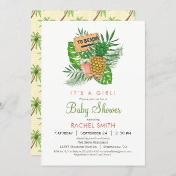 Beach Baby Shower Invitation