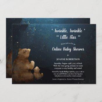 Bears Twinkle Little Star Online Baby Shower Invitation