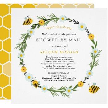Bee Baby Shower By Mail Invitation